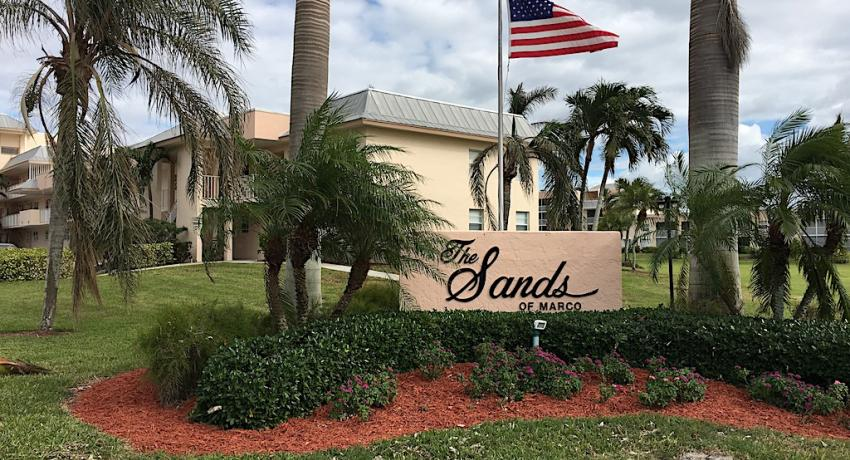 The Sands of Marco Island sign